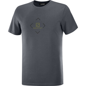 Salomon Cotton SS Tee Men, ebony/black/olive night